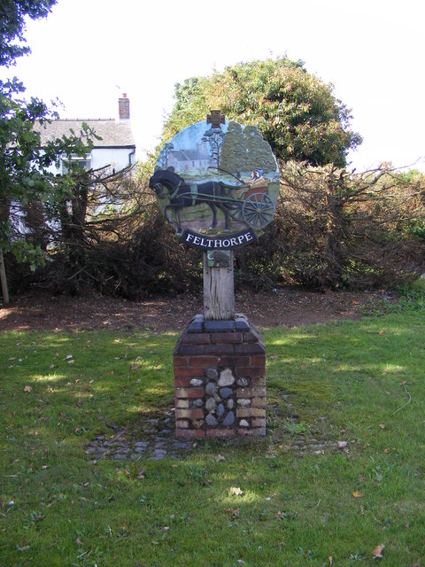 Felthorpe Village sign