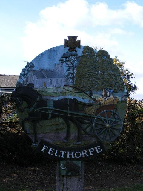 Felthorpe Village sign