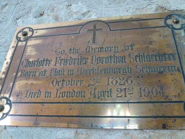 St John the Baptist, Symondsbury: memorial (c)