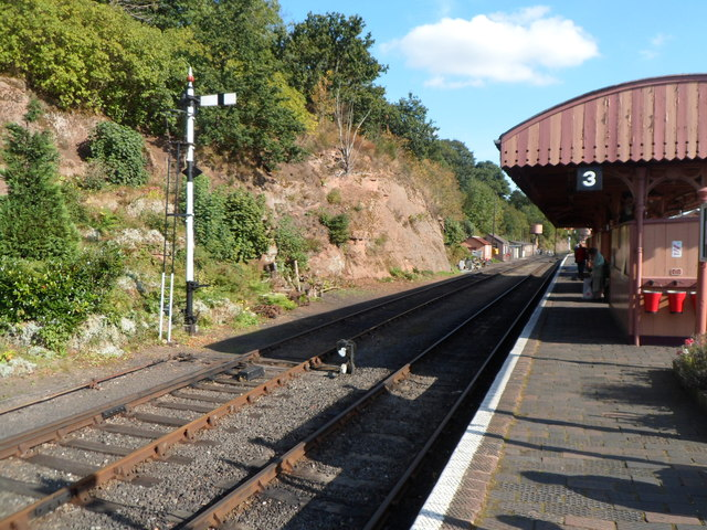 Platform 3 at Bewdley railway station