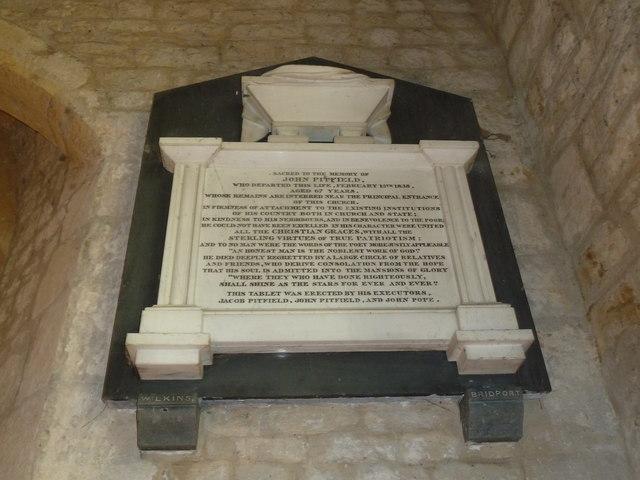 St John the Baptist, Symondsbury: memorial (f)