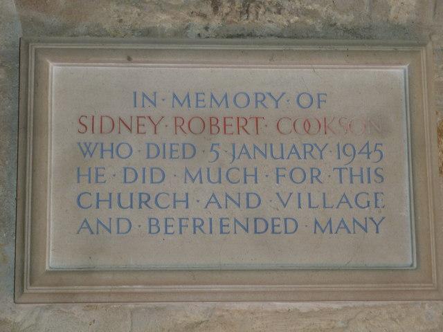 St John the Baptist, Symondsbury: memorial (g)