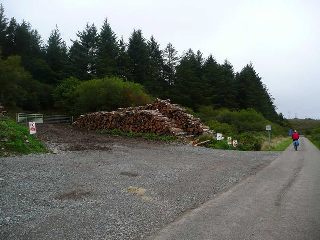 Timber extraction by the B842