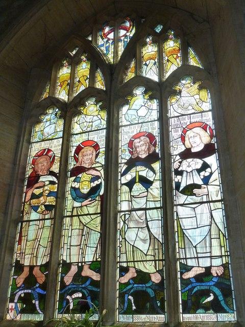 St John the Baptist, Symondsbury: stained glass window (1)