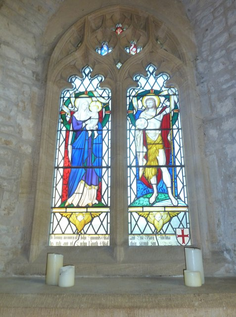 St John the Baptist, Symondsbury: stained glass window (3)