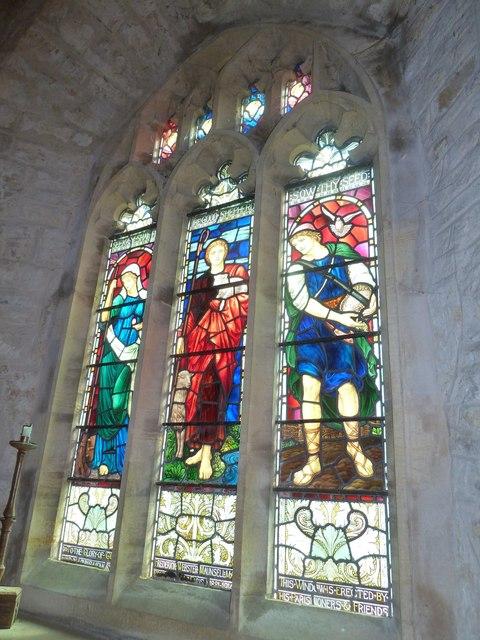 St John the Baptist, Symondsbury: stained glass window (5)