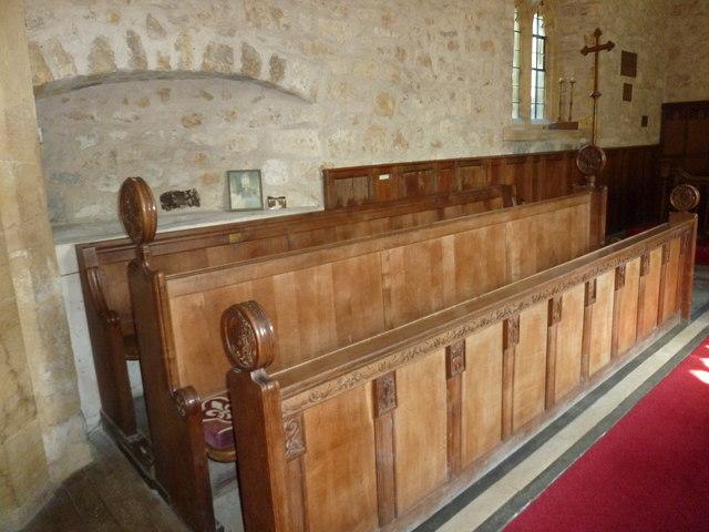 St John the Baptist, Symondsbury: choir stall
