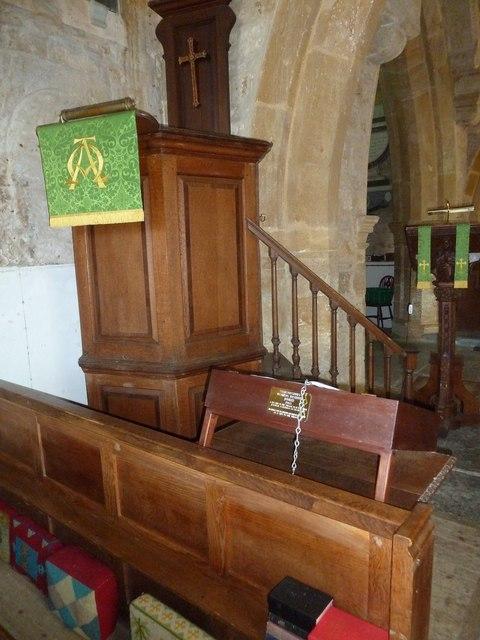 St John the Baptist, Symondsbury: pulpit