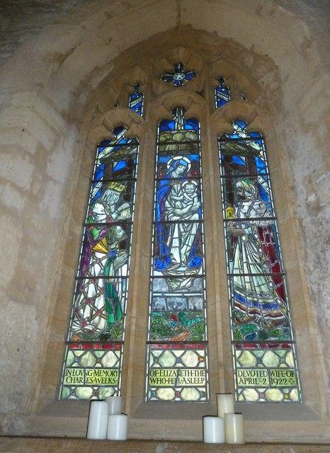 St John the Baptist, Symondsbury: stained glass window (7)
