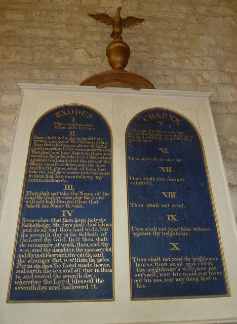 St John the Baptist, Symondsbury: The Ten Commandments