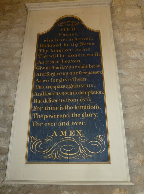 St John the Baptist, Symondsbury: The Lord's Prayer