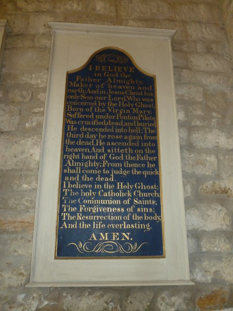 St John the Baptist, Symondsbury: The Creed