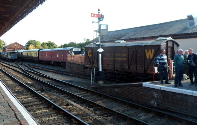 GWR tool & packing van at Bewdley railway station
