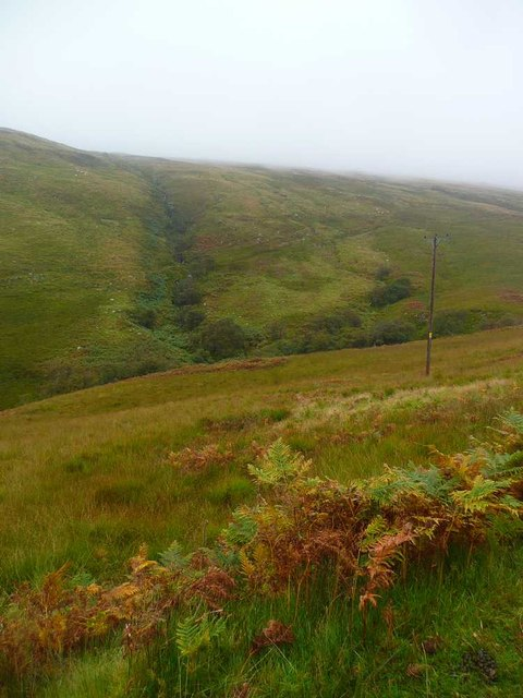 Moorland on the way to the Allt na Meanie