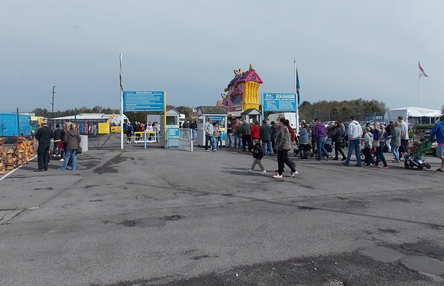 Entrance to Blackbushe Sunday Market