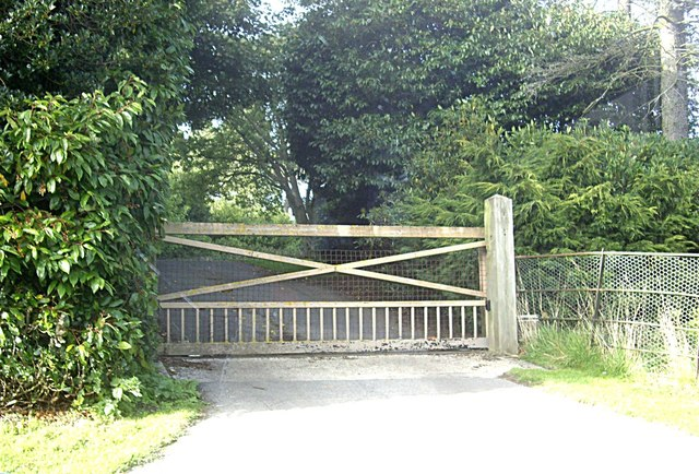 A gated entrance to Quarry Hill
