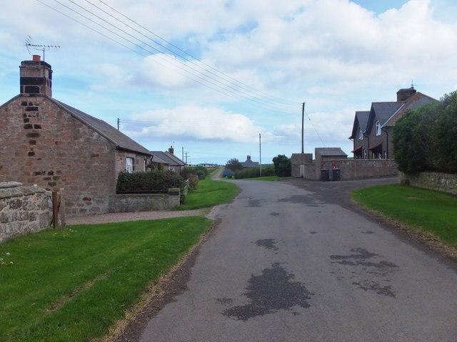 Minor road through Thornton