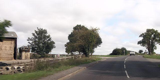A329 at Upper Hill Farm entrance