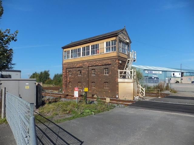 Mostyn Signal Box and crossing