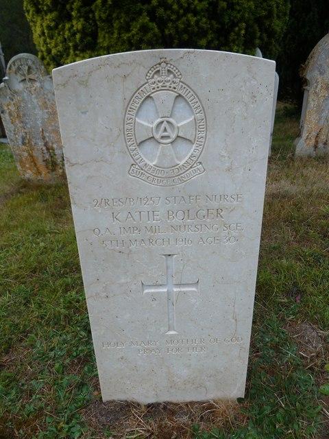 St John the Evangelist, Sutton Veny: military grave (2)