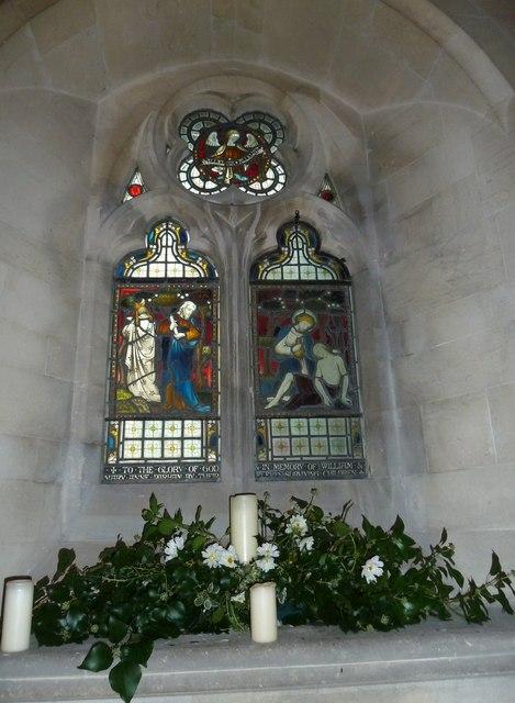 St John the Evangelist, Sutton Veny: stained glass window (I)
