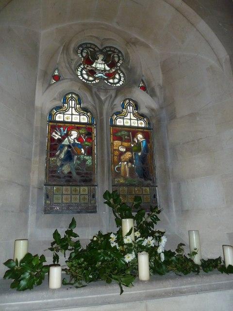 St John the Evangelist, Sutton Veny: stained glass window (II)