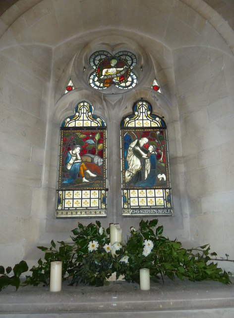 St John the Evangelist, Sutton Veny: stained glass window (V)