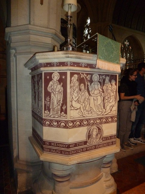 St John the Evangelist, Sutton Veny: pulpit