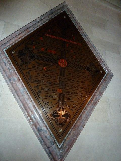 St John the Evangelist, Sutton Veny: memorial (d)