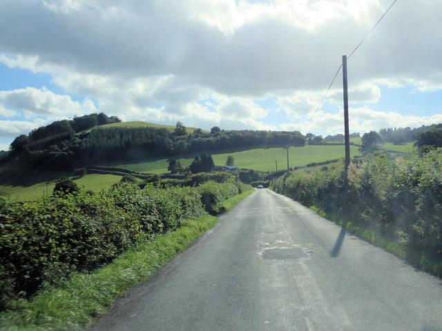 Un-named crossroads southeast of Priddbwll-Mawr