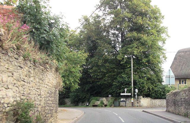 Road junction in Little Milton