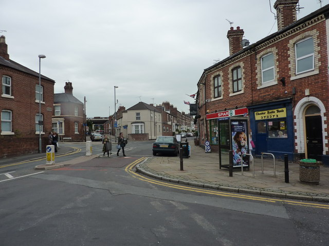 Shops on Bouverie Street, Chester