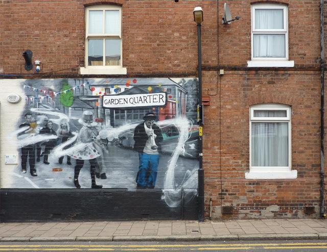 Garden Quarter; street art in Chester