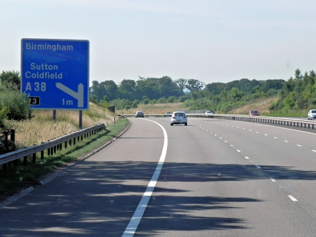 M6 Toll Road near Roughley