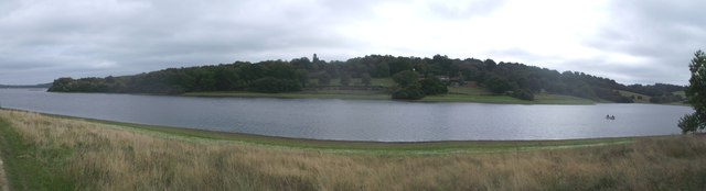 Panorama of Bewl Water and Greenwoods Wood