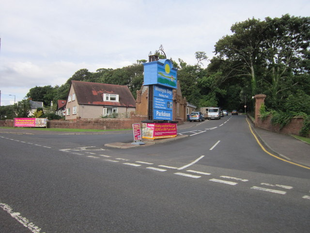 The entrance to Wemyss Bay Holiday Park
