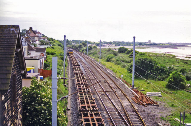 Site of Hest Bank station, West Coast Main Line 1998