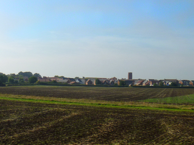 Ploughed fields by Balderton