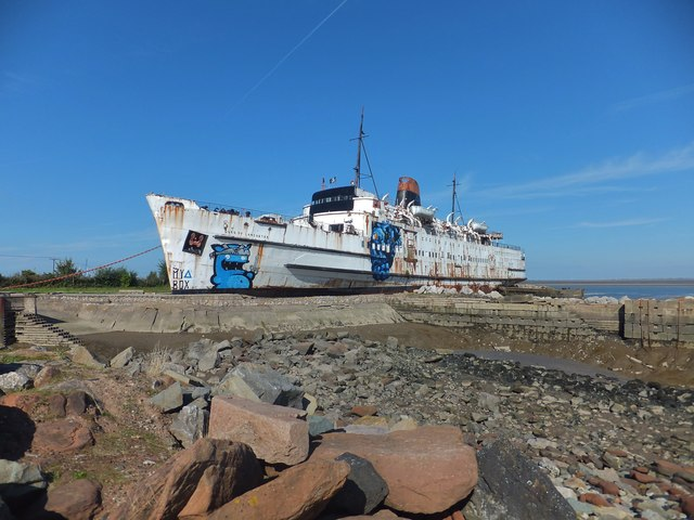 Duke of Lancaster with graffiti