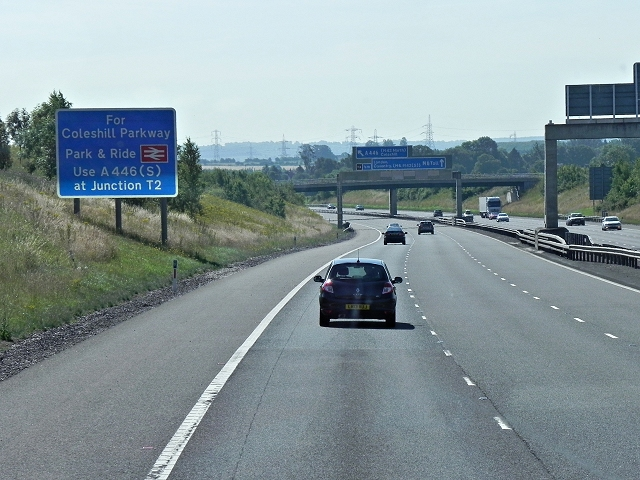 M6 Toll Road, Southbound