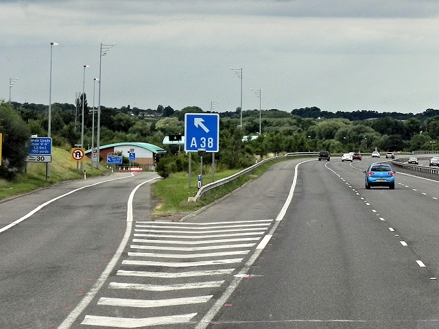 Northbound M6 Toll Road, Exit at Junction T2