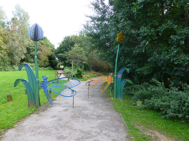 Entrance to Anderton Nature Park