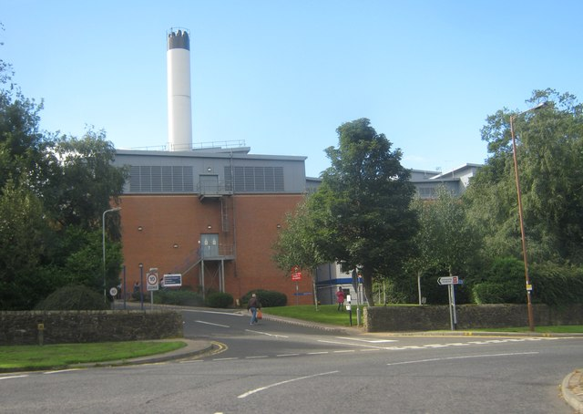 Entrance to University Hospital Durham from Dryburn Road