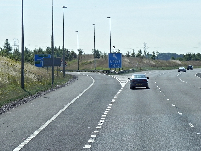 M6 Toll Road, Exit at Junction T2