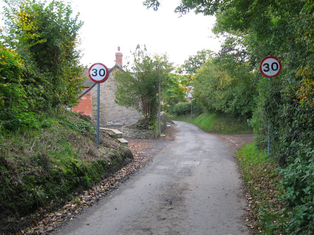 Lane from Woolston 1-Wistanstow, Shropshire