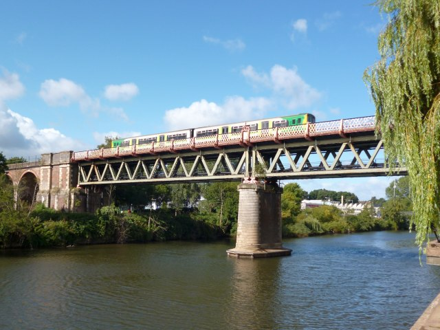 Railway bridge across the River Severn at Worcester