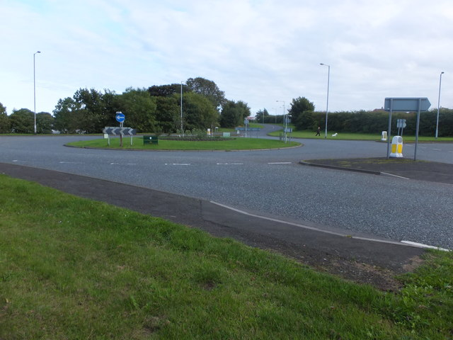 Roundabout on the A698