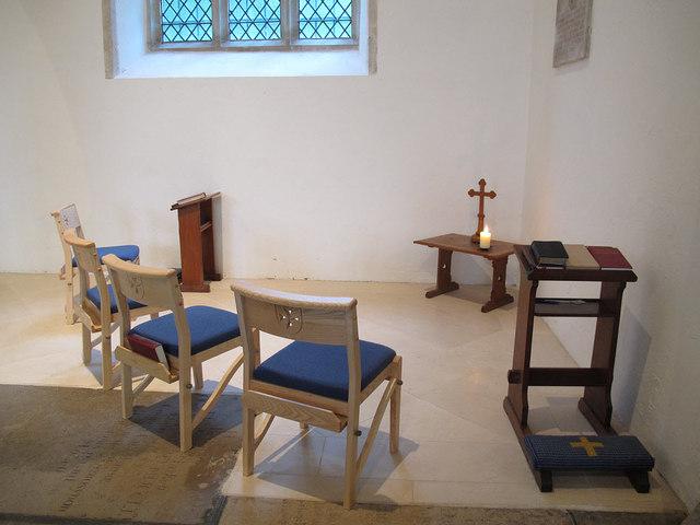 Prayer corner in St John's church