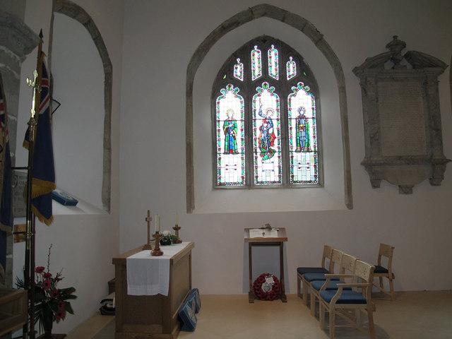 Memorial chapel in St John's church