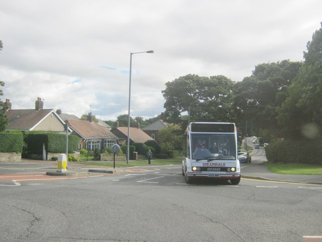 Weardale Travel bus turning out of Dryburn Road Durham towards the A167